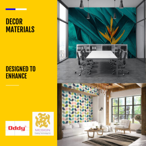 DÉCOR MATERIALS: CUSTOM WALLCOVERINGS & CANVASES