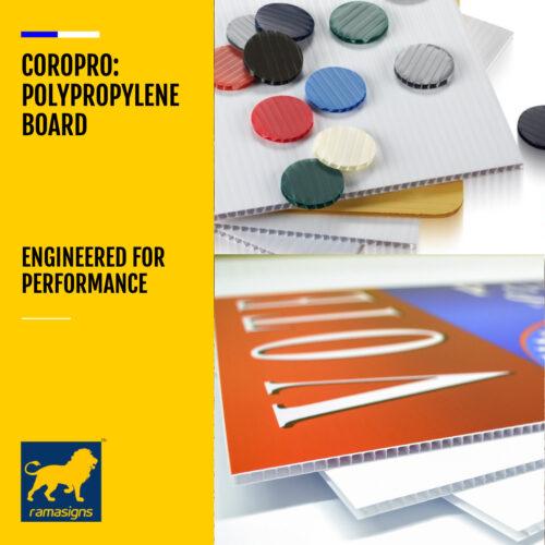COROPRO™ FLUTED POLYPROPYLENE BOARDS